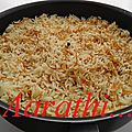 Ruz bi shirieh - arabic rice with vermicelli