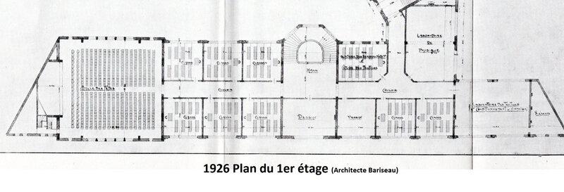 Fraction du plan du 2ième étage