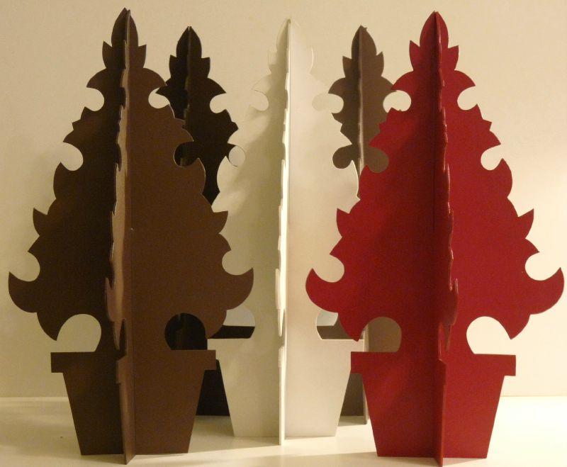 Sapins de table découpés, Noël