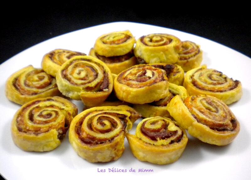 Escargots feuilletés au pesto et parmesan 2