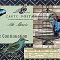 Carte Départ Marie