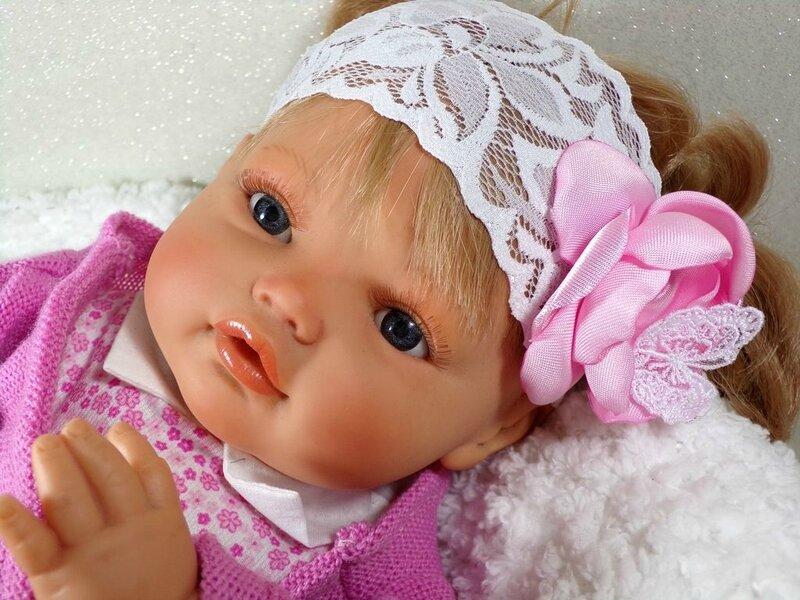 Bandeau cheveu bébé dentelle blanc