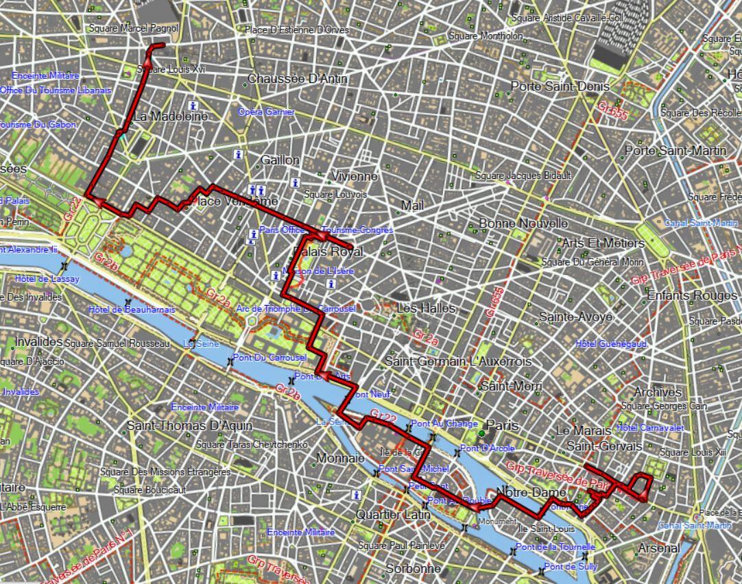 Rando Nocturne Les Places Royales de Paris avec l'InterG de Colombes
