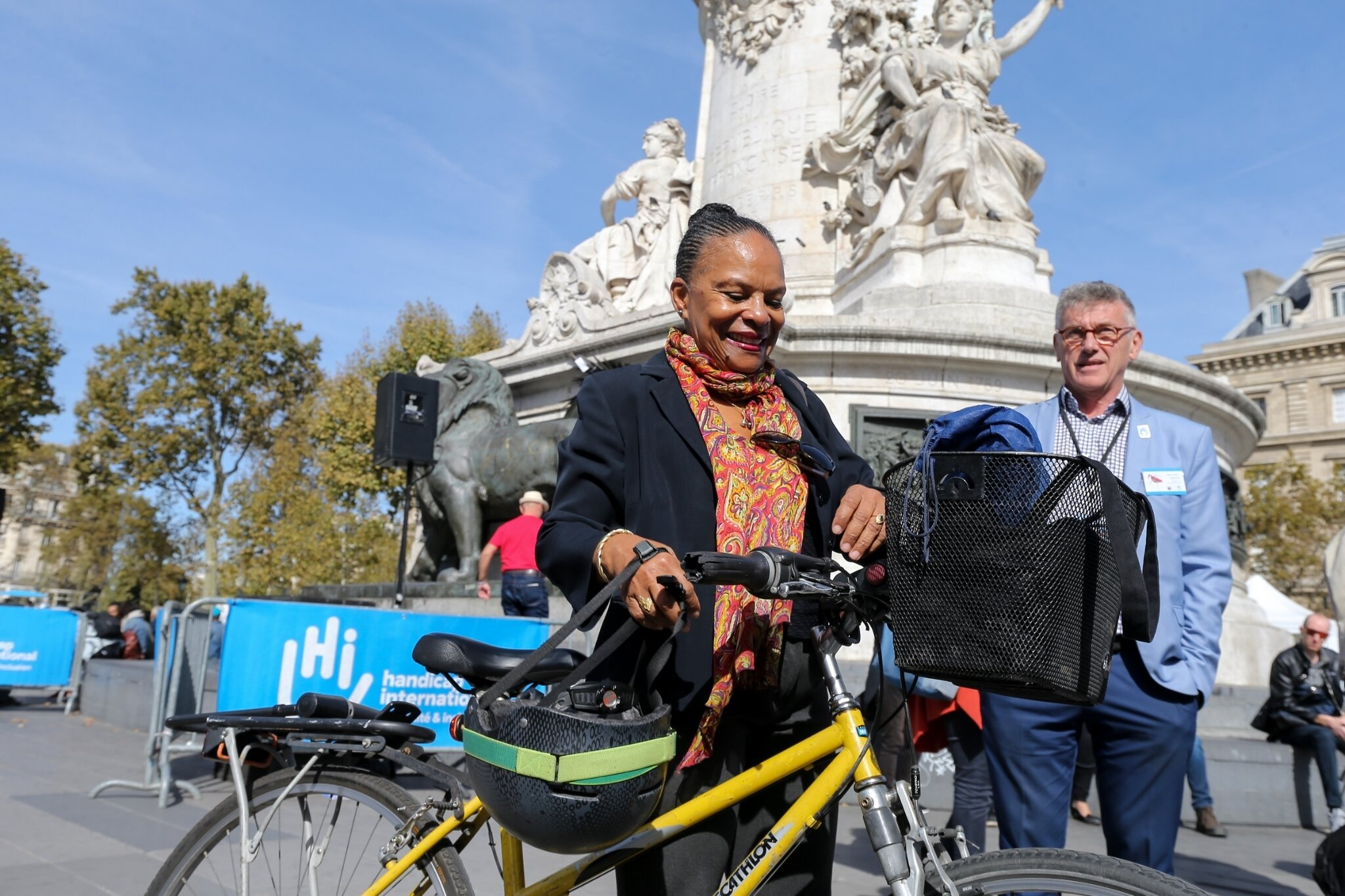 Christiane Taubira soutient Handicap International. © Michel Stoupak. Sam 29.09.2018, 12h34m30.