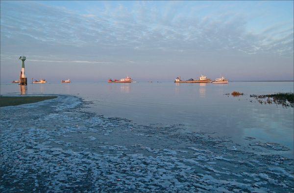 Aiguillon Pavé bateaux glace 170113 2