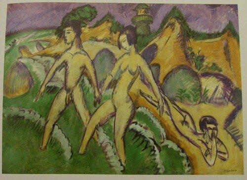 Ernst Ludwig Kirchner, Personnages entrant dans la mer, 1912