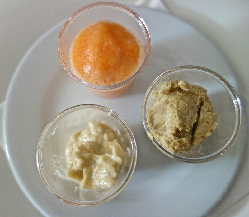soupe froide de melon au vinaigre de mangue