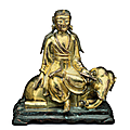 A gilt-bronze figure of a samantabhadra, china, ming dynasty (1368-1644)