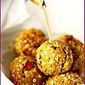 Boulettes au son d'avoine, noisettes et flocons de quinoa