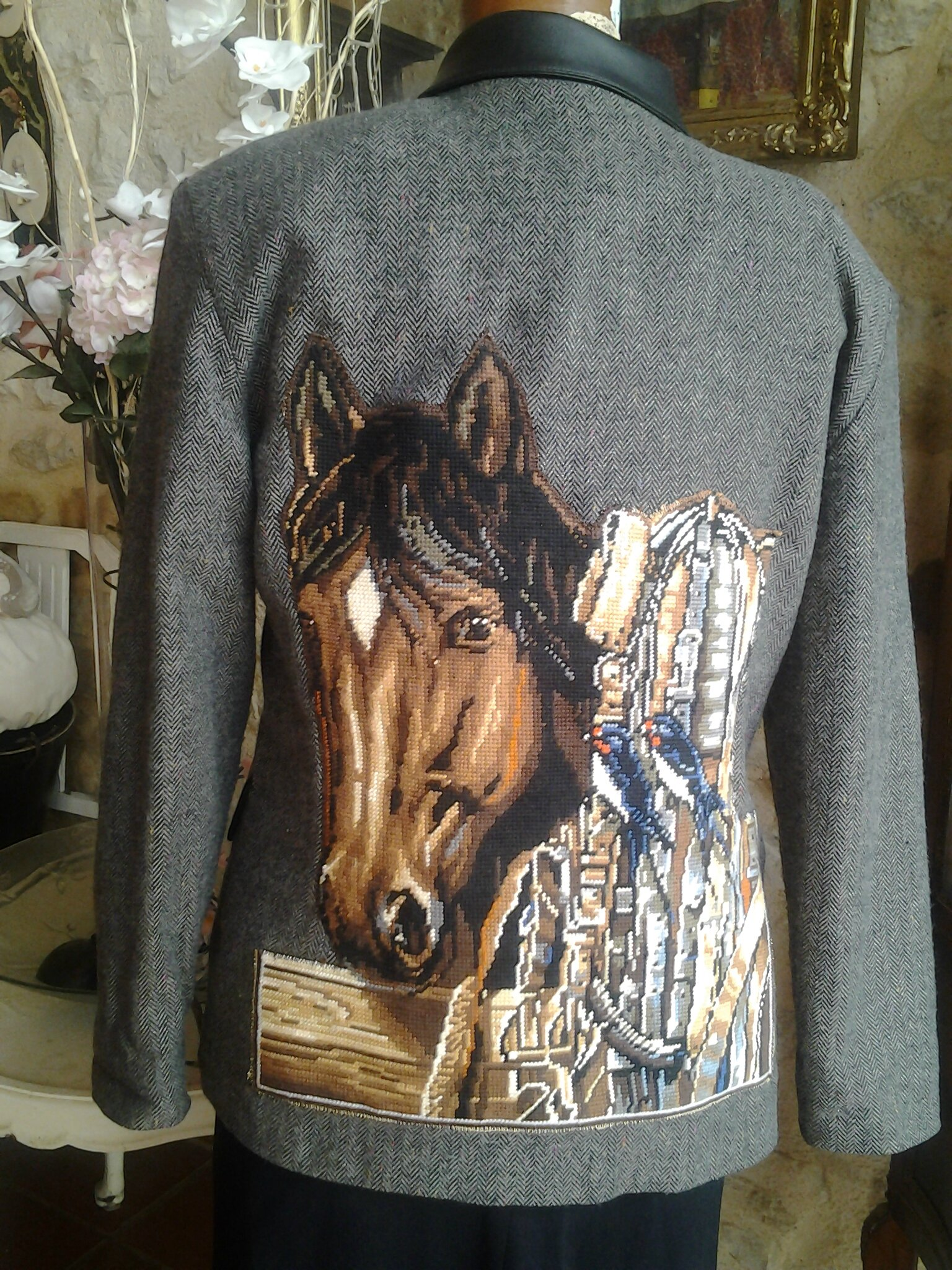 VESTE CUSTOMISEE EQUITATION