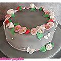 Gâteau avec ses petites fleurs