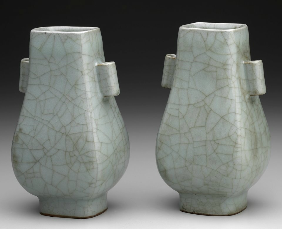 Celadon Vase, one of a pair, Song dynasty, 10th-13th century