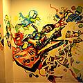 fresque déco loges artistes du Liberté, rennes, 2012