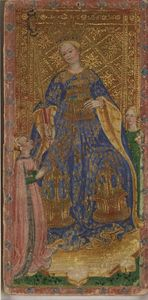 VISCONTI CARY YALE mi XVe s - Reine de Bâtons - Beinecke Library