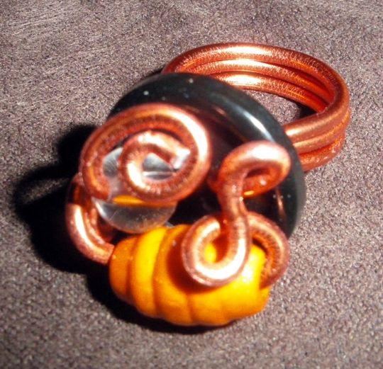 parure (20-3) orange-bouton