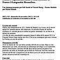 Fr3 : signes du toro - novembre