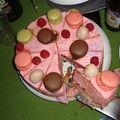 ¤¤¤ un entremet tout rose pour l'anniversaire…