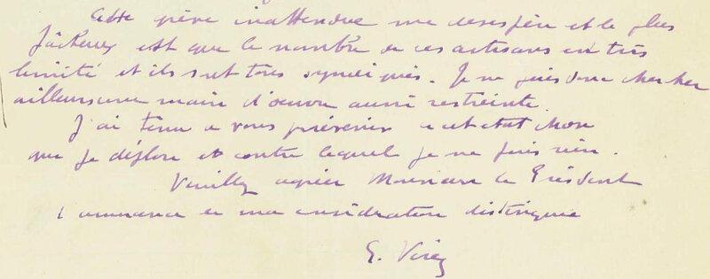 1924 06 29 Courrier Verez à Marx R