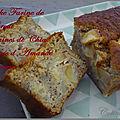 Cake a la farine de kamut, graines de chia et pomme