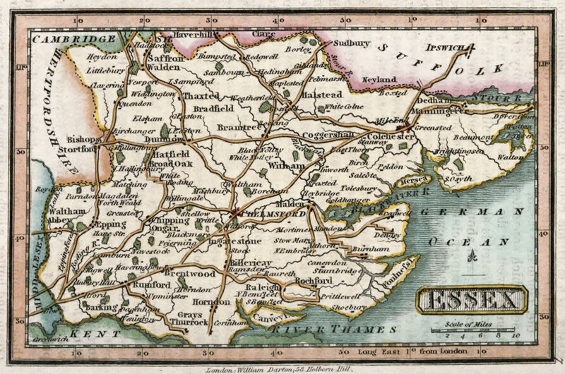 map-of-essex-england-circa-1820-by-william-darton-publishing
