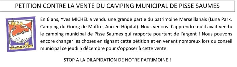 pétition camping