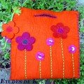 sac en feutre de laine décoré