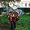 Déguisement de papillon 100% récup' !