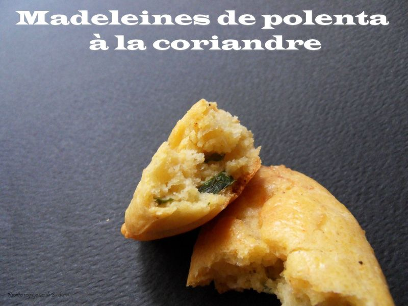 madeleines de polenta à la coriandre2