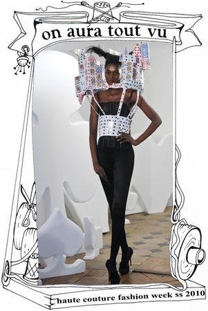 semaine de la mode paris 2010, château de cartes