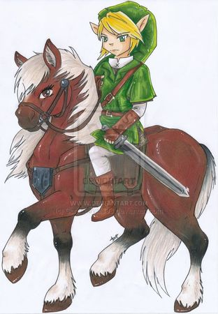 turn_the_mirror___link___epona_by_carocheval003_d2iectr