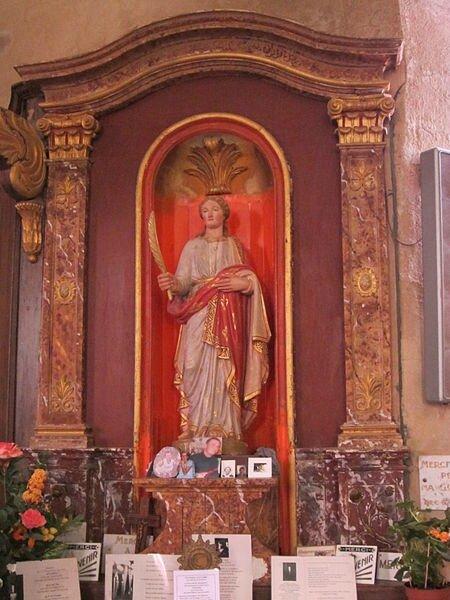 450px-Église_Saint-Manvieu_de_Vaudrimesnil_-_Statue_Sainte_Foy_et_ex-voto