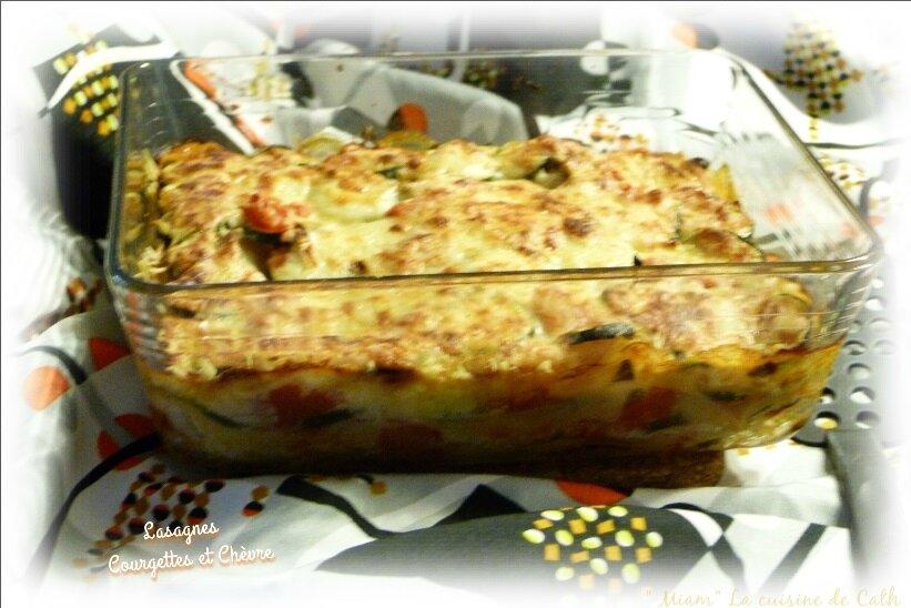"""ღ """" Miam """" Lasagnes Courgettes - Chèvre"""