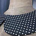 Col BERYL en coton noir à pois blancs - taille 54 (3)