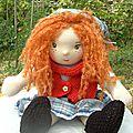 Laura, petite fille de la prairie....et tres grande poupee waldorf de 50 cm !