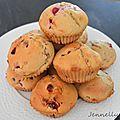 Muffins framboises / groseilles