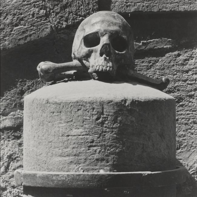 Robert Mapplethorpe (1946-1989), 'Skull and crossbones'. photo S