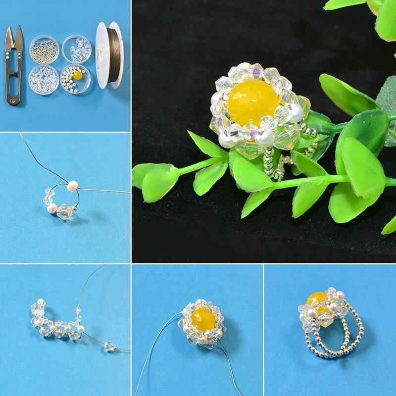 1080-Pandahall-Tutorial-on-How-to-Make-Simple-Ring-with-Pearl-and-Glass-Beads