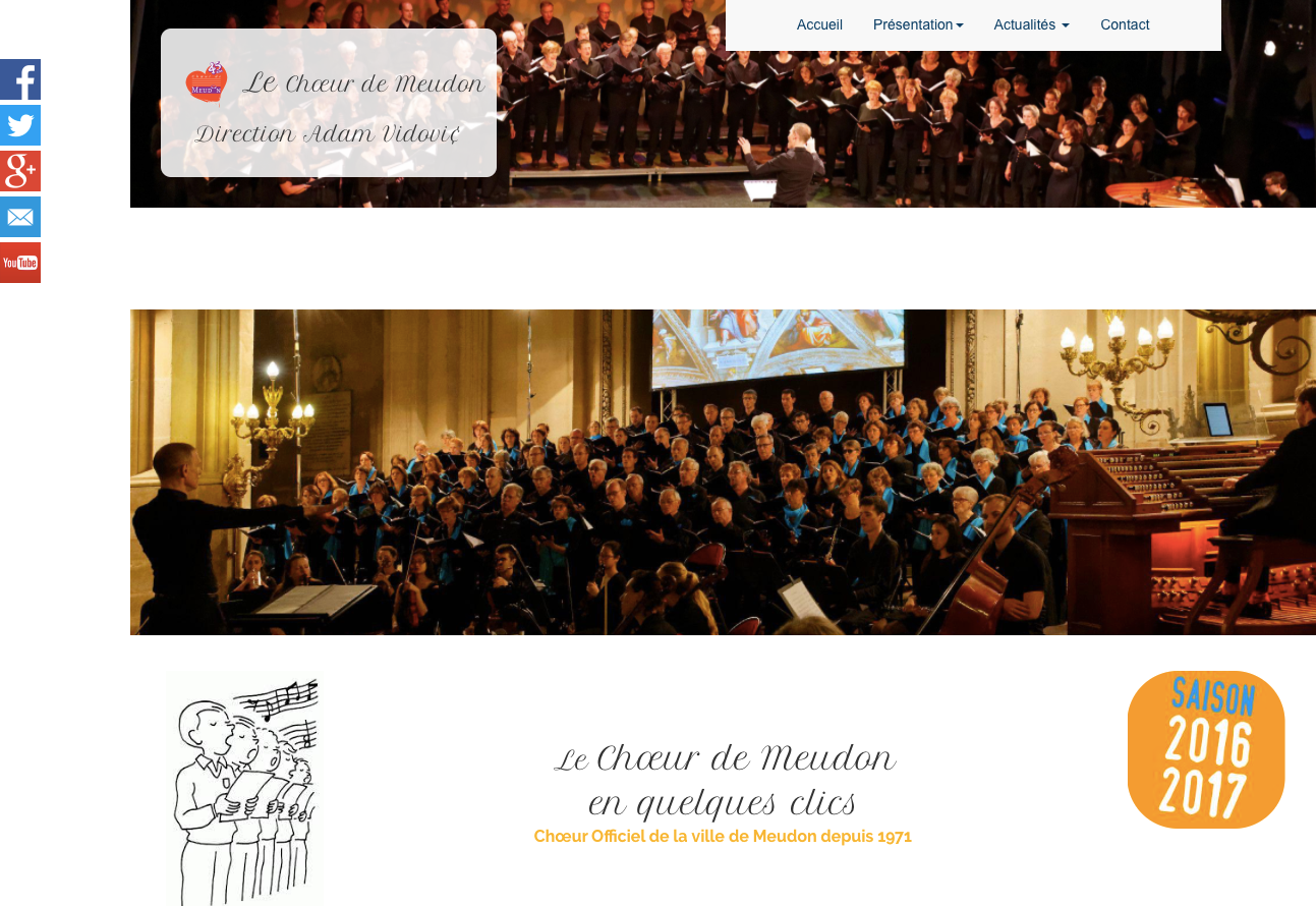 Nouvelle version du site Internet du Choeur de Meudon
