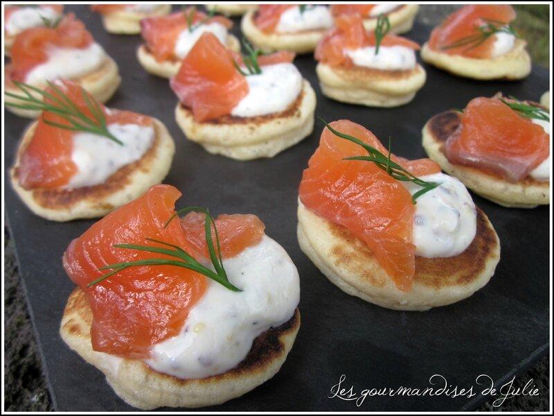 blinis saumon gravlax