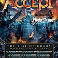 Night demon en support de accept : france 2 dates (debut 2018) / night demon will proudly be supporting accept in europe (2018)