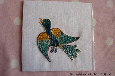 oiseau broderie Bayeux (2)
