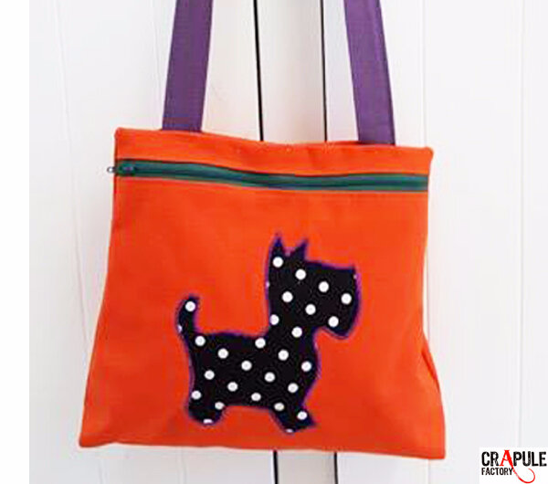 sac fille aiko orange chien1600 6003