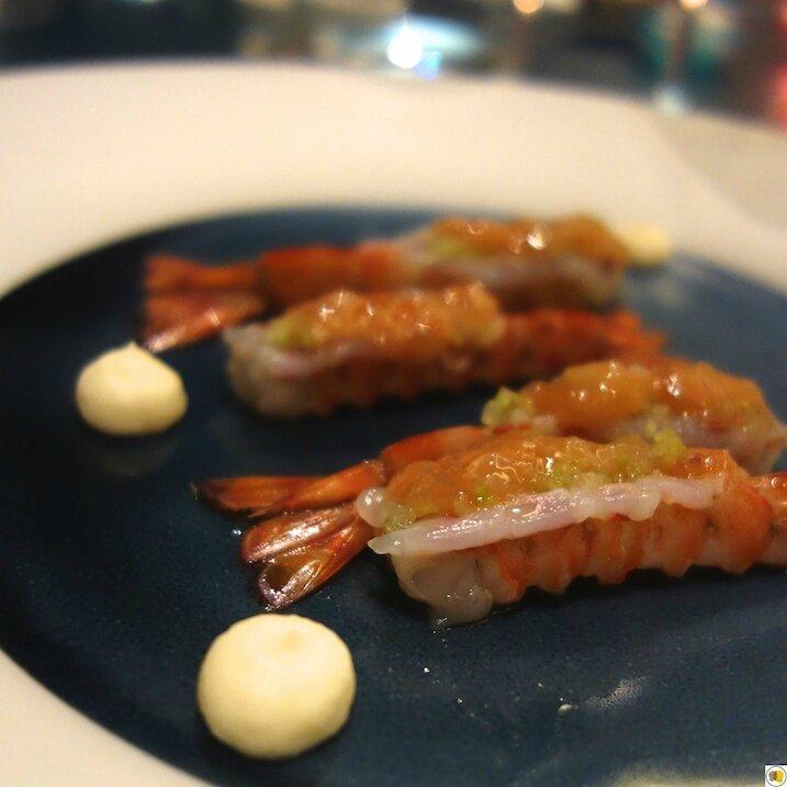 Crevettes vivantes de Marennes Oléron, têtes en beignets (1)