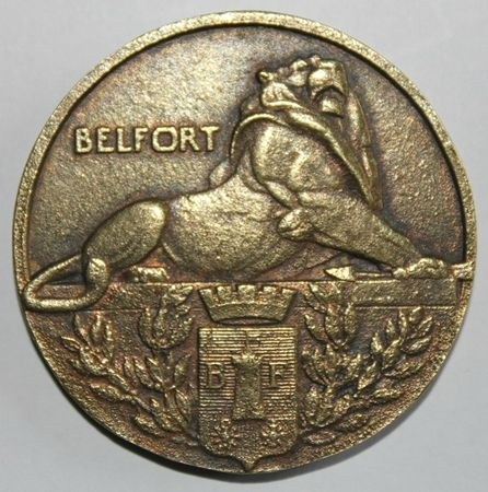 6 Médaille Belfort 1944 Avers RR