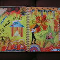 Mon 1er art journal - collage