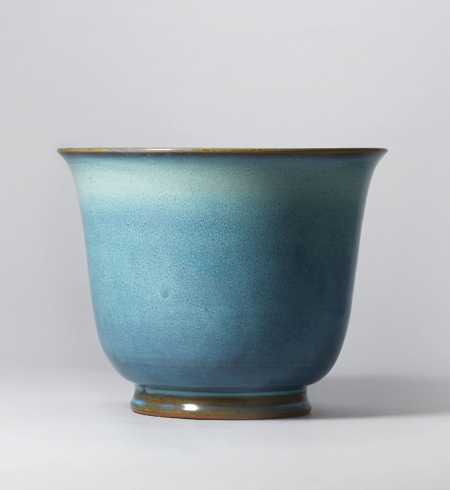 An important and extremely rare jun 'number four' jardiniere, Yuan-early Ming dynasty, 14th-15th century