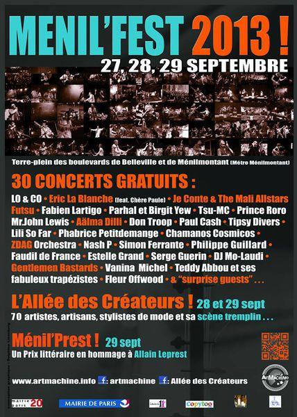 Ménil fest 2013-Clocréations 28-29 sept 2013
