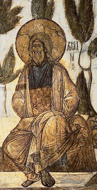 Le sein d'Abraham par Daniel le Noir, cathédrale de la Dormition