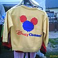 Gilet machine Disney Channel dos