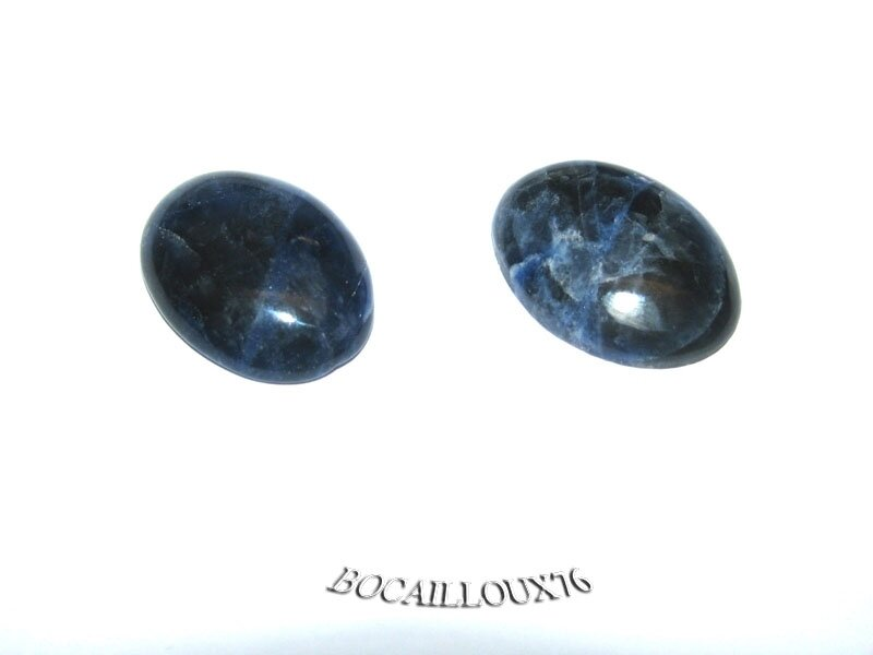 CABOCHON 15x20 SODALITE 2 - LOT DE 2 - POUR CREATION